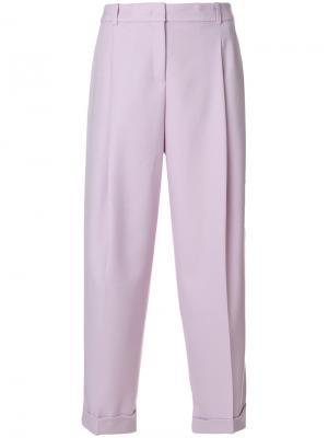 Укороченные брюки Jil Sander Navy. Цвет: розовый и фиолетовый