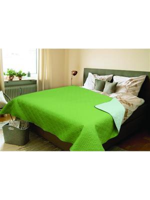 Покрывало Amore Mio Verdo 2,0 сп. Euro Зеленый. Цвет: зеленый