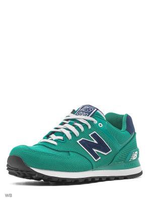 Кроссовки New Balance 574. Цвет: зеленый