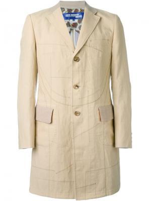 Пальто с простроченной отделкой Junya Watanabe Comme Des Garçons Man. Цвет: телесный