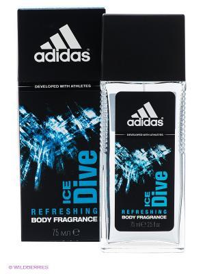 Освежающая парфюмированная вода для мужчин adidas Ice Dive 75 мл. Цвет: черный, синий