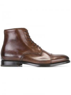 Классические ботинки W.Gibbs. Цвет: коричневый