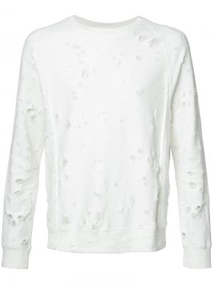 Distressed sweatshirt The Soloist. Цвет: белый