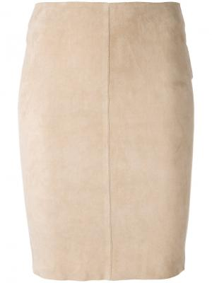 Облегающая юбка Jitrois. Цвет: телесный