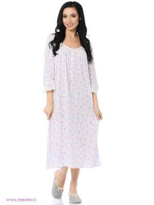 Ночная сорочка Eileen West. Цвет: розовый