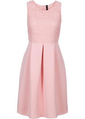 Платье из материала под неопрен (нежно-розовый) bonprix. Цвет: нежно-розовый