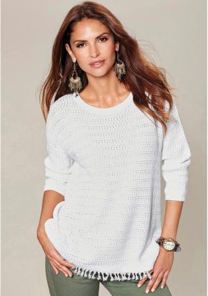 Пуловер Venca. Цвет: белый