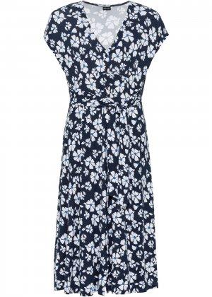 Платье трикотажное bonprix. Цвет: синий