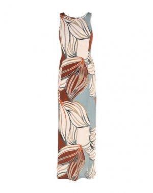 Длинное платье ALPHA STUDIO. Цвет: слоновая кость