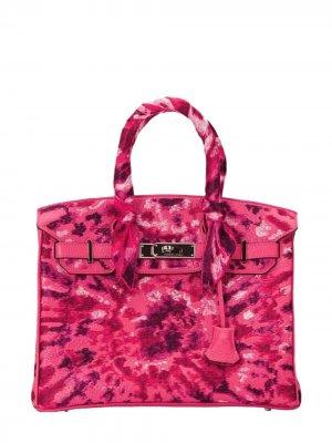 Pristine, Birkin 25cm, Tie Dye, Rose Pourpre, Leather Togo, PHW - Final Sale Jay Ahr. Цвет: pink