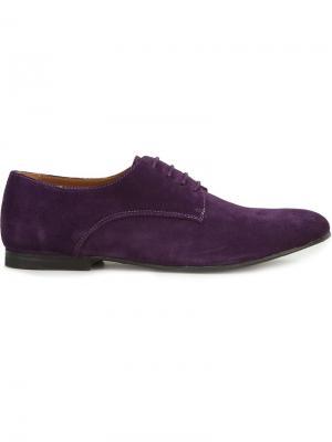 Туфли-дерби на шнуровке B Store. Цвет: розовый и фиолетовый