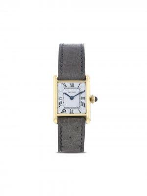 Наручные часы Tank pre-owned 19 мм 1970-го года Cartier. Цвет: белый