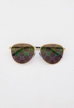Очки солнцезащитные Gucci GG0945SA. Цвет: серебряный