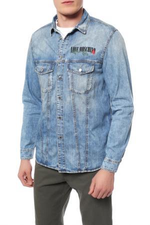 Рубашка джинсовая Love Moschino. Цвет: 355w