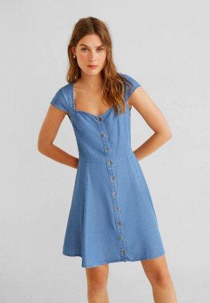 Платье Mango - ANGEL. Цвет: голубой