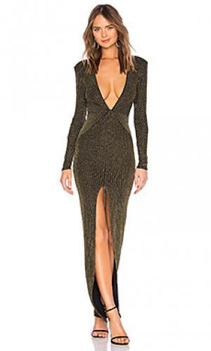 Вечернее платье sitara Michael Costello. Цвет: черный