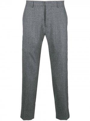 Укороченные классические брюки AMI Paris. Цвет: серый