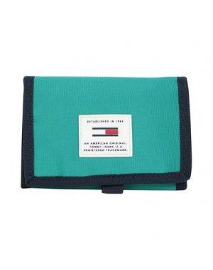 Бумажник TOMMY JEANS. Цвет: светло-зеленый