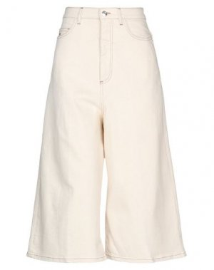 Джинсовые брюки-капри NINE:INTHE:MORNING. Цвет: бежевый