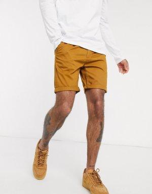 Светло-коричневые шорты чиносы -Коричневый цвет Bellfield