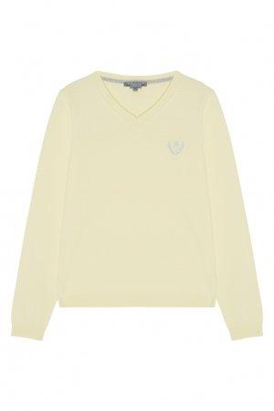 Светло-желтый пуловер Bonpoint. Цвет: желтый