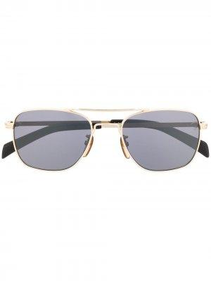 Солнцезащитные очки 7019/s в квадратной оправе Eyewear by David Beckham. Цвет: черный
