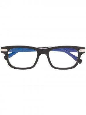 Очки в прямоугольной оправе Hublot Eyewear. Цвет: черный