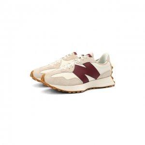 Комбинированные кроссовки 327 Future Classics New Balance. Цвет: бежевый