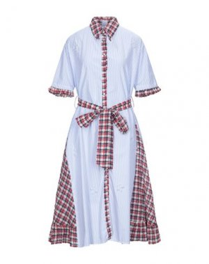Платье длиной 3/4 I'M ISOLA MARRAS. Цвет: небесно-голубой