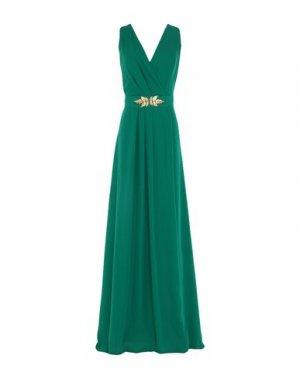 Длинное платье CASTING. Цвет: зеленый
