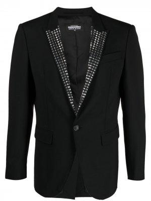 Пиджак с заклепками на лацканах Dsquared2. Цвет: черный