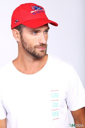 Бейсболка Claudio Campione. Цвет: красный