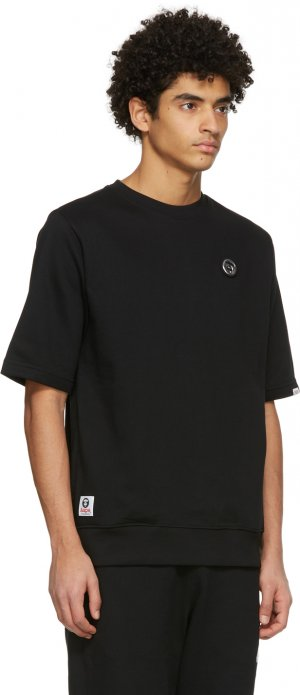 Black French Terry T-Shirt AAPE by A Bathing Ape. Цвет: black