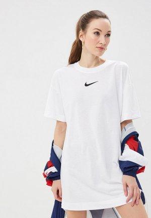 Платье Nike SPORTSWEAR SWOOSH WOMENS DRESS. Цвет: белый