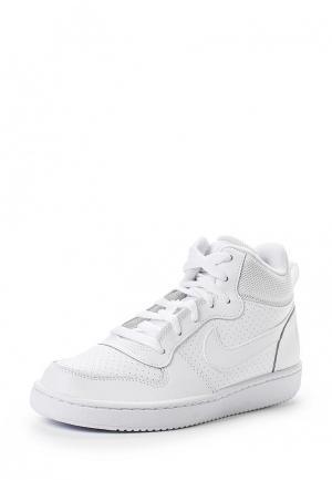 Кроссовки Nike Boys Court Borough Mid (GS) Shoe. Цвет: белый