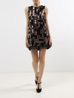 Платье с пайетками Rinascimento. Цвет: chernyy