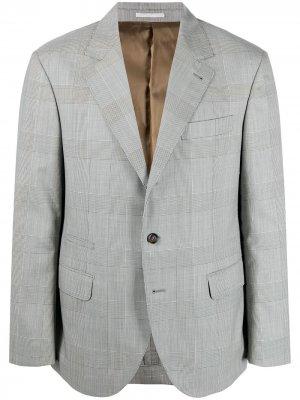 Пиджак в клетку Brunello Cucinelli. Цвет: черный