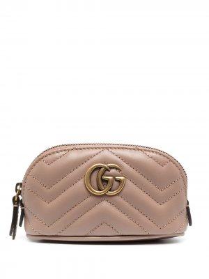 Ключница GG Marmont 2.0 Gucci. Цвет: розовый