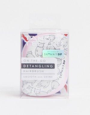 Компактная щетка для путающихся волос x SkinnyDip-Бесцветный Tangle Teezer
