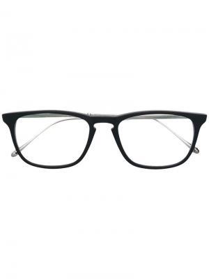 Очки в квадратной оправе Matsuda. Цвет: черный