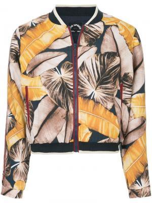 Куртка-бомбер с тропическим принтом The Upside. Цвет: разноцветный