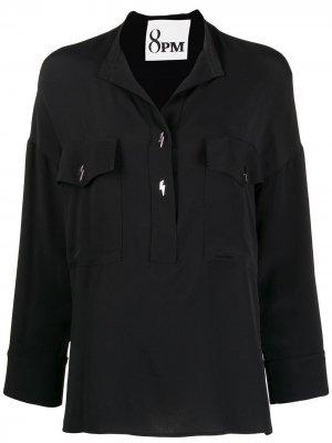 Блузка свободного кроя 8pm. Цвет: черный