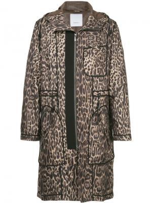 Пальто с леопардовым узором Ports V. Цвет: разноцветный