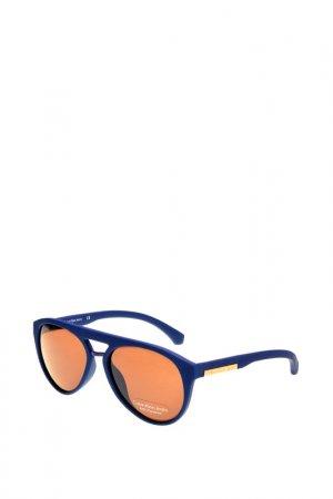 Солнцезащитные очки CKJ. Цвет: синий