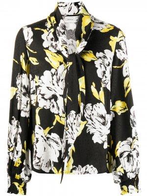Блузка Sarina с цветочным принтом Gestuz. Цвет: черный