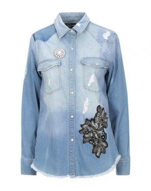 Джинсовая рубашка RELISH. Цвет: синий