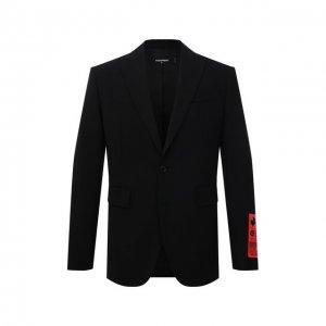 Шерстяной пиджак Dsquared2. Цвет: чёрный