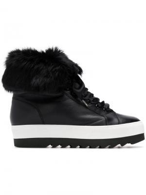 Ботинки на шнуровке с платформой Hogl. Цвет: черный