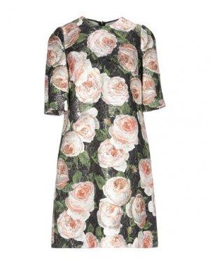 Короткое платье DOLCE & GABBANA. Цвет: черный