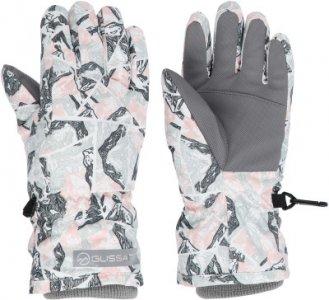Перчатки для девочек , размер 4 Glissade. Цвет: белый